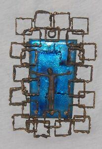 modernes Bronzekreuz, Kreuz, Emaille, Korpus, Jesus, Kruzifix, Cross