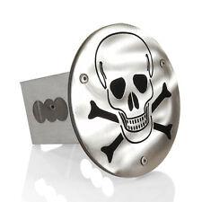 "Skull Logo Chrome Finish Steel Metal 2"" Tow Hitch Cover Plug Laser Cut"