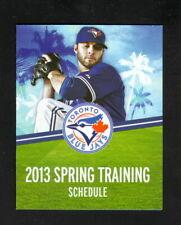 Toronto Blue Jays--2013 Spring Training Pocket Schedule--Lenny's