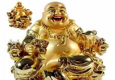 Buy Golden Laughing Buddha on Dragon Chair for good luck.