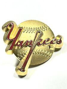 NY Yankees 1998 Peter David Gold Metal Baseball MLB Collectible Pin