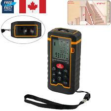 Digital Laser Distance Meter Measure Tape 100M Range Finder Handheld Tool CA NEW
