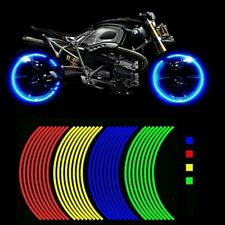 Motorcycle Wheel Hub Rim Stripe Reflective Decal Stickers Safety Reflector