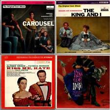 4 BROADWAY Carousel, King & I, Kiss Me Kate 2 different 33 1/3 rpm Vinyl LPs