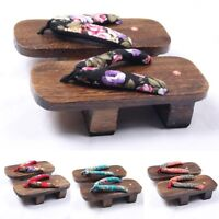 Women Bidentate Geta Home Clogs Outdoor Shoes Flip Flops Sandals Wooden Slippers