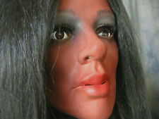 Latex Mask EBONY +LASHES +WIG - Real. Female Rubber Face Crossdresser African