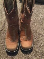 Womens Roper FatBaby  Studded Brown Embossed 6.5 B Western Cowgirl Boots