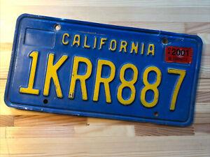 Nummernschild USA California Kalifornien Blau Original