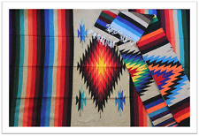 NEW 4x6 Large Serape Southwestern Mexican Blanket Horse Saddle Yoga Sarape Rug
