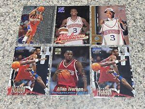 1996-97 Allen Iverson Rookie Lot Of 6 Topps Upper Deck Fleer