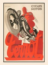 Terrot Cycles Motos Art Print France Motorcycle Vintage French Poster 26x20