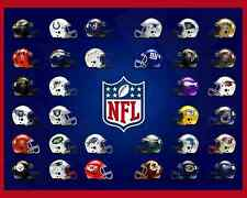 NFL Helmet Team Logo Poster - 8x10 Color Photo