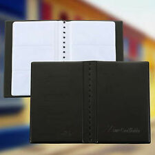 120 Sheets Business Name ID Bank Credit Cards Holder Book Case Organizer Leather