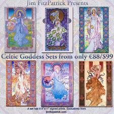 "IRISH CELTIC GODDESSES SET 2. 6 Art Prints by Jim FitzPatrick. A4 11""x8"""