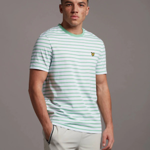 Lyle & Scott Breton Stripe T-shirt Sea Mint and White