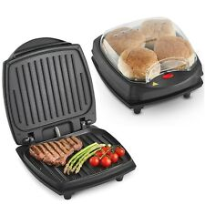 VonShef Health Grill Panini Press Sandwich Toaster Electric BBQ Barbecue Burger