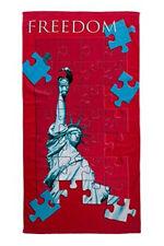 """drap de bain/plage FREEDOM statue de la liberté """"puzzle"""" 70 x 140 cm - neuf"""