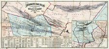 1878 Map Anthracite Coal Fields Pennsylvania Mining Home School Office Poster