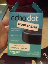New open box Amazon Echo Dot 2nd generation