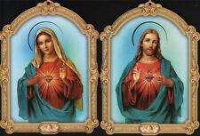 VERY NICE JESUS AND MARY SACRED HEARTS 2 PICTURES HOME INTERIOR DECOR