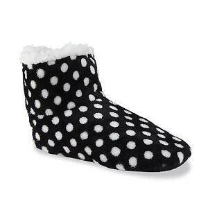 Joe Boxer winter cold weather faux sherpa lined booties slippers 7.5 - 10 NEW