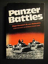 PANZER BATTLES, WWII, Softcover, VERY GOOD!