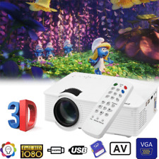 7000lumens Excelvan mini LED Home Theater Projector HDMI/USB/SD/AV Multimedia US