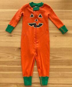 HANNA ANDERSSON Pumpkin Baby Zip Halloween Sleeper Size 70 6-12 Months