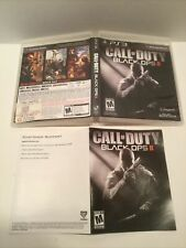 Call of Duty Black Ops II 2 Playstation 3 PS3 Case insert cover only Authentic