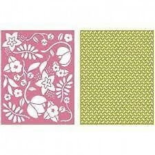 "Quickutz/Lifestyle Crafts EF0034  ""Wildflower""  2 Embossing Folders  NEW"