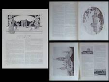 CONSTRUCTION MODERNE n°44 1906 LA HAYE, PALAIS DE PAIX, LOUIS MARIE CORDONNIER,