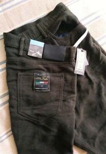 """Fab Pair M&S Italian soft moleskin trousers 'Khaki', BNWT, Regular, 42""""W 31""""L"""