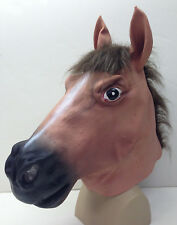 Adult One Size Full Head Deluxe Pony Furry Zoo Barnyard Stallion Horse Mask