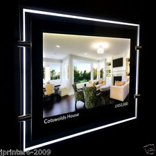 A4 Landscape Double Side LED Window Light Pocket Panel Estate Agent Display