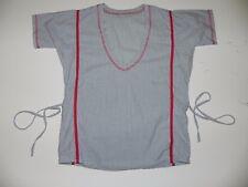 Diesel 55 DSL 70s Estilo Vintage Blusa Camisa Top de rayas cuello en V Náutica Raro