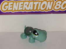 Littlest PetShop Tortue Bleue Carapace Verte Foncee N°793 Turtle Pet Shop