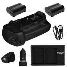 Battery Grip for Nikon D800 D810 MB-D12 + 2x EN-EL15 Batteries + Dual Charger