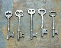 Five Vintage Mortise Lock Skeleton Keys   Antique  & Vintage  Door Keys