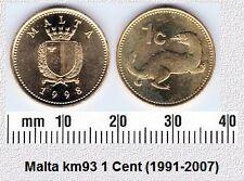 MALTA 1 CENT AUNC COIN # 2038