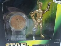 Star Wars Power Of The Force Millennium Collection C-3P0 Figure + Gold Coin