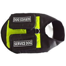 Mesh SERVICE DOG Vest Harness with Side Bags POCKETS Removable label Patches