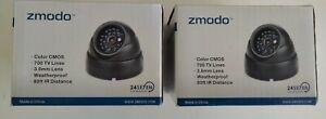 Lot of 2 Zmodo 700TVL Dome IR Camera New NIB
