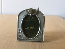 """FORT USA GIFT PEWTER Golf Club Picture Frame - Holds 2""""x2 1/4"""" Pict"""