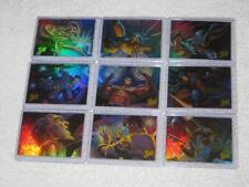 1996 Fleer Ultra X-Men Wolverine Holoflash Holofoil Set of 9 Trading Cards NM/M
