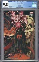 Venom #25 CGC 9.8 Stegman 2nd Print WRAPAROUND Trade Variant