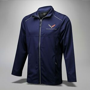 2014-2019 Corvette C7 Men' Lite 3 Layer Full Zip Jacket w/ Logo & Script 637693