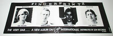 Fingerprintz - The Very Dab / 1979 Virgin Int'l New Wave Post-Punk Promo Poster