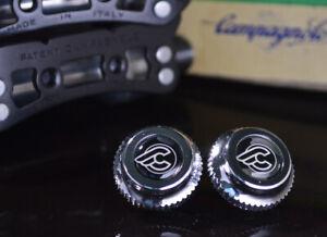 Cinelli black pedals dust caps fit campagnolo super record gipiemme nuovo new