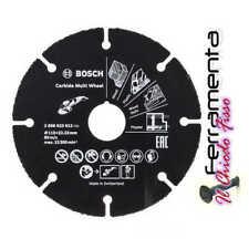 BOSCH DISCO PER LEGNO PLASTICA CARTONGES. D.115 mm PER SMERIGLIATRICI
