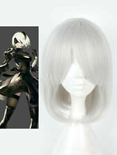 Nier Automata 2B YoRHa No.2 Type B White Straight Cosplay Party Synthetic Wigs